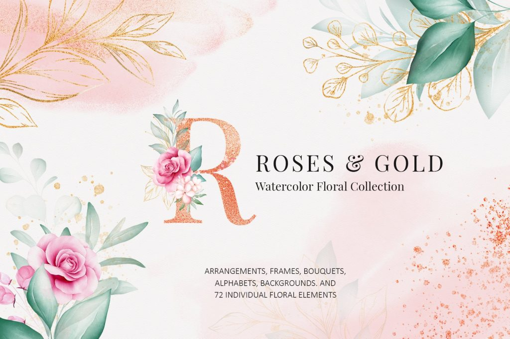Rose & Gold Floral Collection